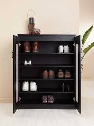 Decorating black shoe cabinet with doors pictures : The 32 inch wide Enitial Lab Brisk 5-Shelf Shoe Cabinet Reviews ...