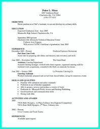 Chef Skills Resume Resume For Your Job Application