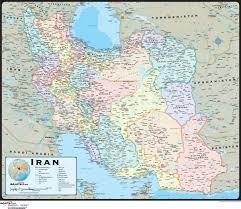 iran wall map  mapscom