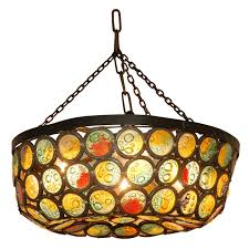 artis stained slag glass chandelier at 1stdibs pertaining to popular property stained glass chandeliers remodel