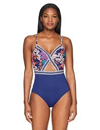 Captiva Womens Bermuda One Piece Crossover With Elastic