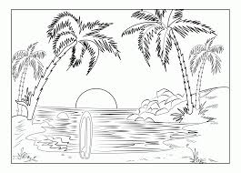 realistic coloring pages for s scenery coloring pages landscapes az coloring pages