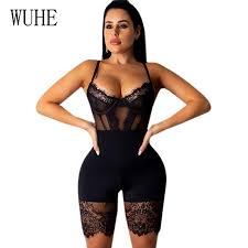 <b>WUHE</b> Lace Patchwork <b>Sexy Spaghetti</b> Strap Jumpsuits Women Off ...