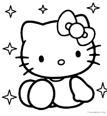 Hello Kitty Coloring Pages Free Printable Free Cat Coloring Pages