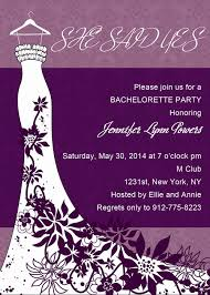 bachelorette party invite elegant wedding dress purple bachelorette party invitation cards