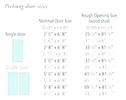 Bifold Door Rough Opening Chart Crazymba Club