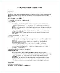 Sample Emt Resume Kantosanpo Com