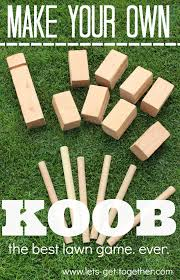 Lawn Game With Wooden Blocks DIY KOOB The Best Lawn Game Ever 5