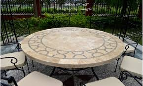 outdoor dining table large round outdoor table round