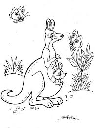 Small Picture Kangaroo coloring pages Download and print Kangaroo coloring pages