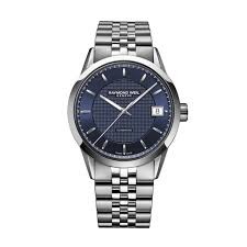 buy a raymond weil swiss watch online fraser hart raymond weil lancer men s automatic blue dial stainless steel bracelet watch
