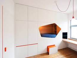 transforming furniture for small spaces. Transforming Furniture For Small Spaces Colorful Space Saving Bed Built Into The Wall