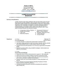 Army Resume Example Army Resume Example Military Resume Examples