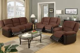 Pc Living Room Set Living Room Brown Sets Fabric And Leather Navpa2016