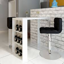 high gloss breakfast bar coffee table dining wine rack storage pub kitchen white