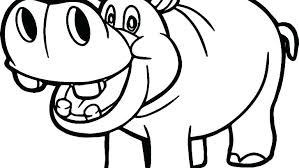 Hippo Coloring Page Girls Coloring Book Danaverdeme
