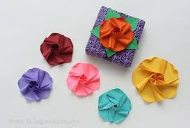 Paper Folded Flower An Origami Flower Can Enhance A Gift Or Be The Gift Video