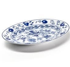 <b>Блюдо овальное маленькое</b> 23 см, фарфор, серия Ognion <b>bleu</b> ...