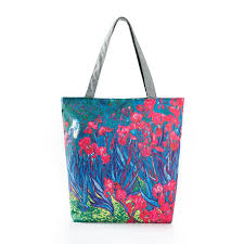 designer painting flowers canvas bag portable handbag sigle shoulder bag flowers printing ping tote bag with 28 04 piece on baby107 s