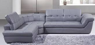 j m 397 modern grey italian leather sectional sofa adjustable headrests lhc reviews sku175442912 sectional