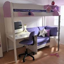 bunk bed with desk and couch. Loft Bed With Desk And Couch Bunk E
