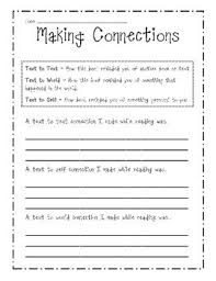 best making connections activities ideas making connections sheet printable worksheet