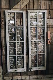 Rustic Vintage Window Pane Wedding Seating Chart Ideas