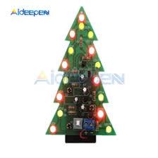<b>LED Flash</b> Christmas Tree <b>DIY Kit</b> 3D Circuit Part Glitter Electronic ...