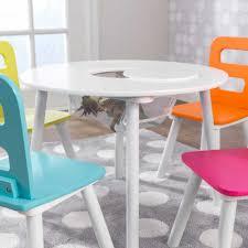 round storage table chair set highlighter childrens round white and chairs kids brights d storage