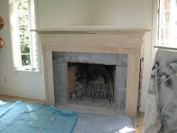 removing the old fireplace surround