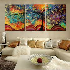 large wall art abstract tree painting colorful landscape paintings canvas picture for home living room decoration