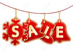 Christmas Signs Christmas Sale Tags On Christmas Signs Vector Illustration Royalty