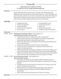 resume for higher education