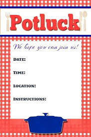Potluck Invitation Template Free Printable And Free Printable Picnic ...