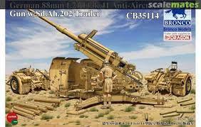 88mm L71 FlaK 41 Anti-Aircraft Gun, Bronco CB35114 [2012)