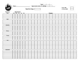 Workout Plan Sheet Training Worksheet To Record Gym Workouts From Planet