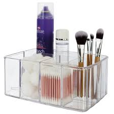 Amazon.com: Premium Quality Clear Plastic Vanity Organizer | 5  Compartments: Home & Kitchen