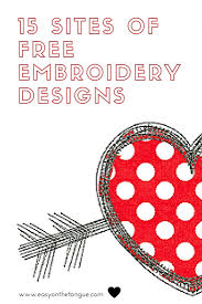 Offering thousands of embroidery and applique designs, fonts, sewing supplies and tools. 15 Sites Free Embroidery Designs