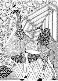 Small Picture Giraffe Coloring Page Zentangle Coloring Pages Printable
