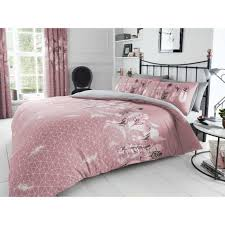 feathers super king duvet cover pink