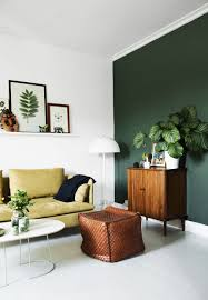interior dark green paint color for minimalist living room with with green paint for living room