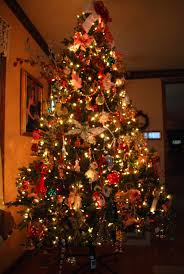Decorated Christmas Trees With Colored Lights | Ne Wall