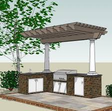 outdoor kitchen designs with pergolas. covered pergola over kitchen area with storage built into the stone outdoor designs pergolas h