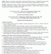 Early Childhood Education Resume Simple Early Childhood Education Resume Samples Kenicandlecomfortzone