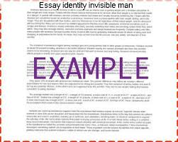 essay identity invisible man coursework help essay identity invisible man