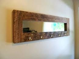Wall Mounted Coat Rack With Mirror Stunning Wall Coat Hanger With Mirror Barn Wood Mirror Coat Rack Wall Coat