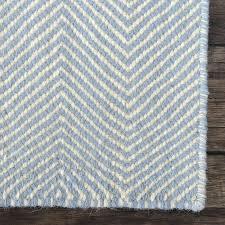 wool kilim rug west elm chevron in blue