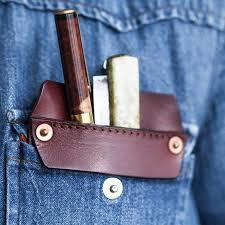 handmade leather tool pocket