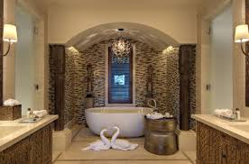 master bathroom corner showers. River Stone Bathroom Decor Single Sink Vanity Cabinet White Beside Toilet Freestanding Oval Bathtub Mahogany Master Corner Showers R