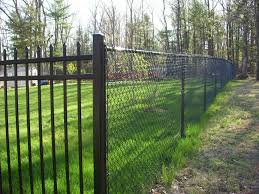 chain link fence paint brown